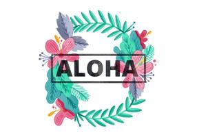 Gratis Hawaiiaanse Lei Waterverf Achtergrond vector
