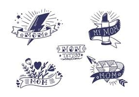 Gratis Mom Tattoo Collection vector
