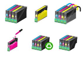 Gratis Inktcartridge Vector