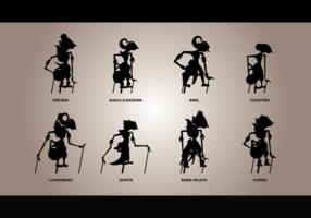 Wayang Silhouetten Vector
