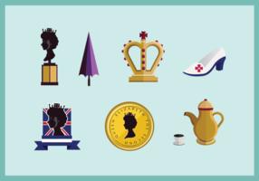 Koningin Elizabeth pictogram vector