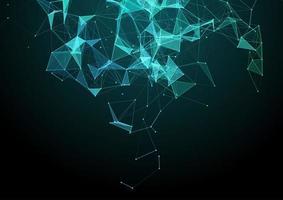 abstracte achtergrond met een laag poly plexus netwerk