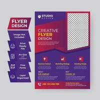 creatieve bedrijfs- en zakelijke conferentievlieger vector