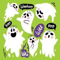schattige schattige spook tekenset