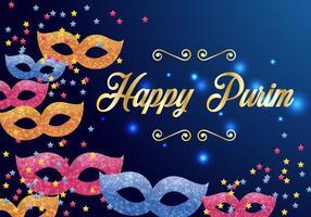 Purim Carnaval Uitnodigings Vector