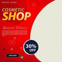 cosmetische winkel sociale media post boost ontwerpsjabloon