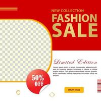 mode e-commerce sociale media post sjabloonontwerp