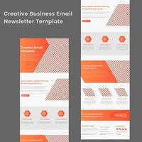 multifunctionele oranje en witte zakelijke e-mail nieuwsbriefsjabloon