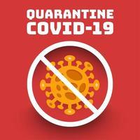 quarantaine covid-19 ontwerp vector
