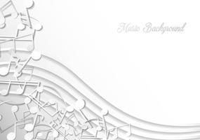 Notitie van muziek achtergrond sjabloon vector