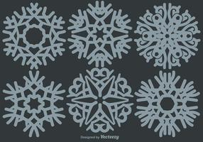 Klassieke Sneeuwvlokken Set vector