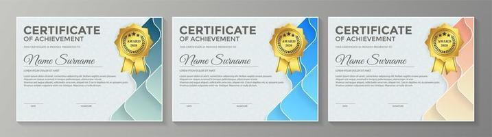 lidmaatschapscertificaat beste onderscheiding diploma set vector