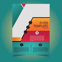corporate flyer-sjabloon schuin vormontwerp