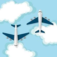 vliegtuigen, reisconcept vector