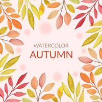 herfstbladeren frame in aquarel stijl