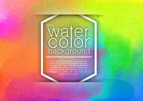 Abstracte Waterverfde Achtergrond - Vector Sjabloon
