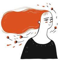 vrouw met rood lang haar
