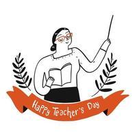 leraren dag viering ontwerp