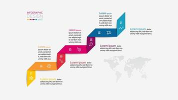 moderne infographic ontwerpsjabloon