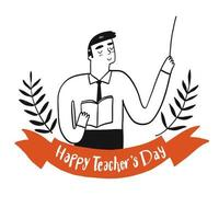 leraren dag viering ontwerp vector