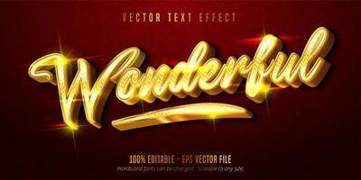 prachtig glanzend gouden stijl bewerkbaar teksteffect