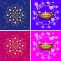 achtergrond sjabloon met mandala-ontwerpen vector