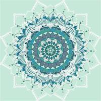 mandala patroon op blauwe achtergrond