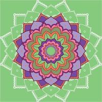 mandala patroon op groene achtergrond vector