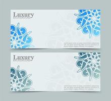 mandala banners in blauwe kleur vector