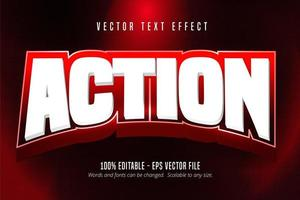 vet wit bewerkbaar teksteffect in actiesportstijl