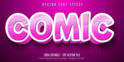 gestippelde roze komische cartoon-stijl bewerkbaar teksteffect