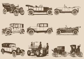 Vintage auto's vector