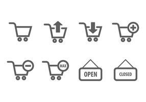 Winkelkaart icoon vector