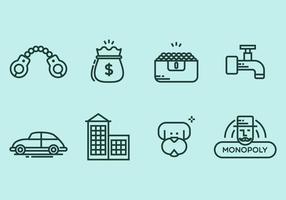 Monopolie icoon set