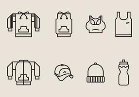Tracksuit en Exercise Clothes Icon vector