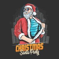 Kerstman opstijgen jas kerstfeest poster