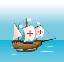 schip dat op zee navigeert