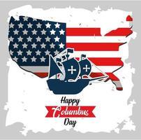 Columbus Day wenskaart