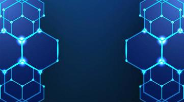 zeshoekige donkerblauwe achtergrond