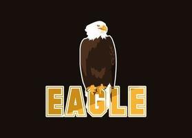 bald eagle vogel met woord