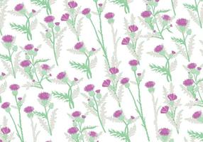 Thistle Patroon Vector