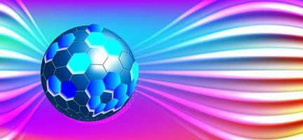 kleurrijke digitale technologiebol vector