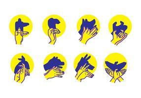 Handschaduwpoppenvectoren