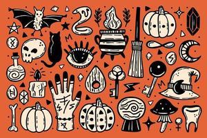 schattig halloween pictogramserie