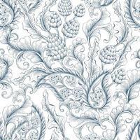 naadloos, bloemen- en sierpatroon