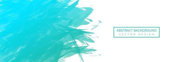 abstracte turquoise aquarel penseel banner achtergrond