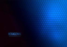 abstracte zeshoekige tech blauwe achtergrond vector