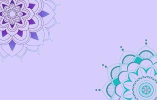 achtergrond sjabloonontwerp met mandala patronen vector