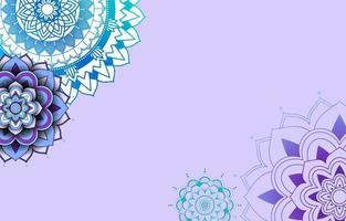 paars, blauw sjabloon als achtergrond met mandalapatronen