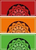 achtergrond sjabloon met mandala patronen vector